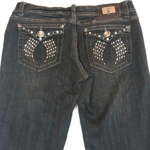 L.A. Idol USA black bootcut jeans Juniors 9